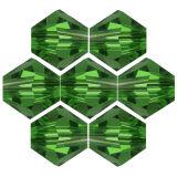 Kristallperle Bicone Ø 4mm Smaragd ~ Grün VE100