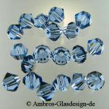 Kristallperle Bicone Ø 4mm Saphier ~ Blau  VE 100