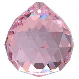 Kristall Kugel Ø 30mm Rosalin ~ Rose, Pink