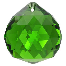 Kristall Kugel Ø 30mm Smaragd ~ Grün K9
