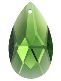 """Kristall """"Salzburger Mandel"""" 38mm Smaragd ~ Grün K9"""